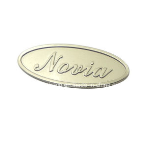 Nickel Free Antique Silver Fashion Bags Logo Metal Label pictures & photos