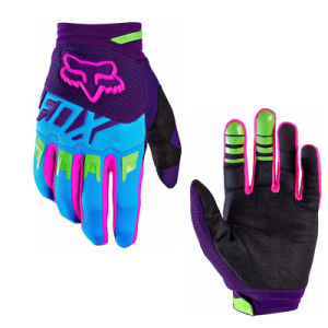 Purple&Blue Wear-Proof Motorcycle off-Road Racing Gloves (MAG61) pictures & photos
