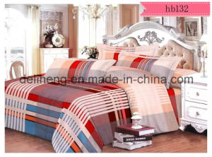 95-105GSM Velvet Microfiber Polyester Printed Fabric for Bed Sheet pictures & photos