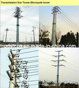 Monopole Steel Tower / Mild Steel / Galvanized Steel