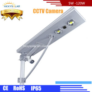 60W IP65 Outdoor Luminaria Solar LED Street Light with CCTV Camera pictures & photos