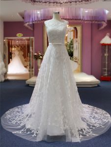 A Line Lace Beach Wedding Bridal Gowns pictures & photos