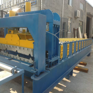 PPGI Steel Profile Roofing Glazed Tile Rolling Forming Machine/Corrugated Roof Sheet Machine pictures & photos