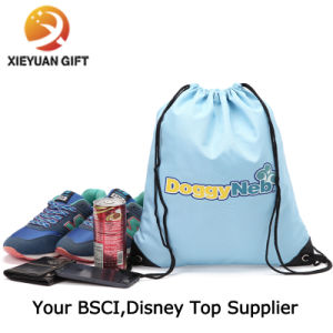 High Quality Factory Printing Custom Logo Polyester Drawstring Bag pictures & photos