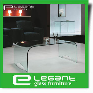 Bent Glass Center Table in Grey Color pictures & photos