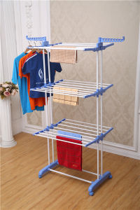 Powder Coated Steel Foldable Multi-Purpose Clothes Drying Rack (JP-CR300W) pictures & photos