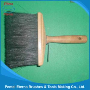 Black Bristle Ceiling Brush with Wooden Handle Painting Brush pictures & photos
