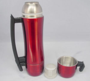 600ml Two Cups Lids Stainless Steel Vacuum Thermos Flask Handle pictures & photos