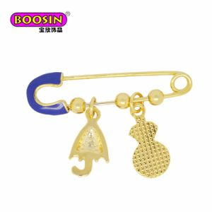 New Design Gold Plated Alloy Fashion Enamel DIY Charm Brooch Safety Pin pictures & photos