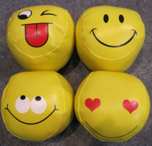 Smile Face Design Baseball Shape PVC Softball pictures & photos