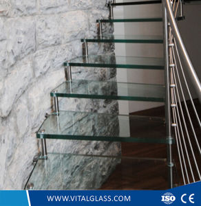 Clear/Ultra Clear/Tinted Tempered/Toughened Float Glass Stairs pictures & photos
