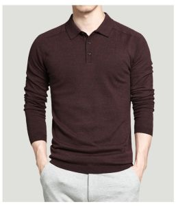 Custom 2017 Mens Polo Sweaters Simple Style Cotton Knitted Long Sleeve Big Size 3XL 4XL Spring Autumn Shirts pictures & photos