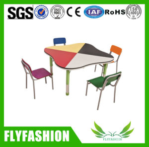 Wooden Popular Kids Study Table with Chairs (KF-07) pictures & photos