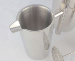 800ml Stainless Steel 304 Double Walls French Press Coffee Kettle (JX-071B) pictures & photos
