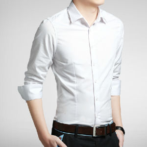 Men′s Formal Fashion Long Sleeve Dress Shirt pictures & photos