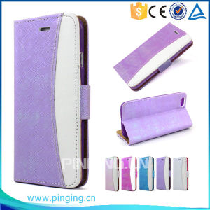 Wallet ID Card Holder Stand Flip Leather Cover Case for Blu Studio C 5 Plus 5 D890u pictures & photos