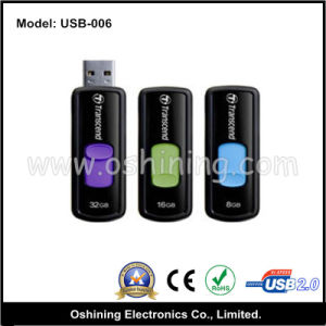Sliding USB 2.0 Flash Drive, OEM Service (USB-006)
