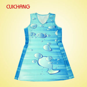 Custom Low Price Polyester Sublimation Netball Dress pictures & photos