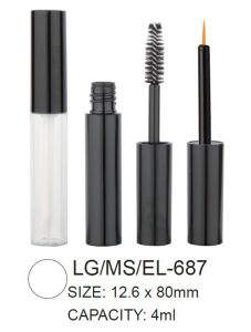 Round Plastic Lipgloss Mascara Container pictures & photos