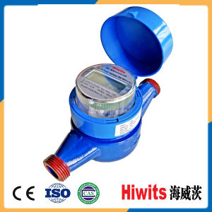 Hiwits Electronic AMR Reading Single Jet Water Meter for Household pictures & photos