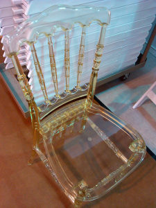Champagne Resin Napoleon Chair at Wedding pictures & photos