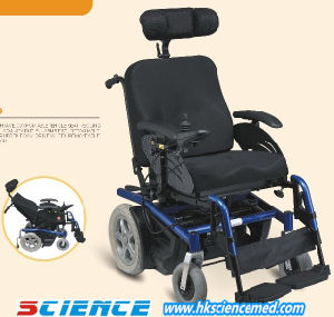 Luxirious Reclining High Back Steel Power Wheelchair (SC-EW10(2)) pictures & photos