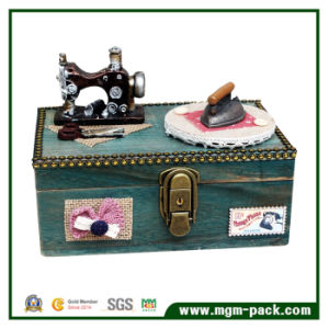 Creative Wooden Music Box with Sewing and Iron Machine pictures & photos