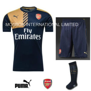 Training Football Kit Wear Navy Junior Shirt Shorts Socks pictures & photos
