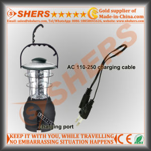 36 LED Camping Lantern USB Outlet Dynamo Cranking Handle Hanging Hook pictures & photos