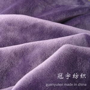 Short Hair Velour Polyester Fabric for Sofa pictures & photos