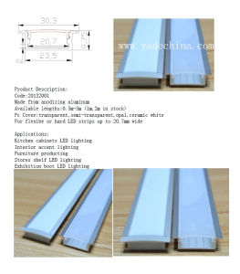 LED Aluminum Profile for Hard or Flexible Strips Light pictures & photos