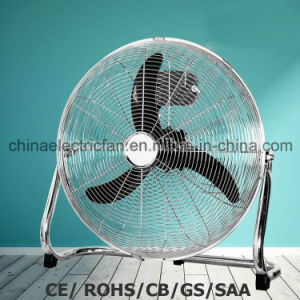 """18"""" 3 Speed High Velocity Floor Fan with Metal Blades SAA/Ce pictures & photos"""