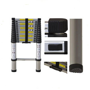 Aluminum 12 Step Telescopic Ladder with 3.8m pictures & photos
