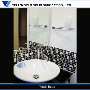 Hot Sale New Design Artificial Stone Marble Bathroom Basin, Wash Hand Basin pictures & photos