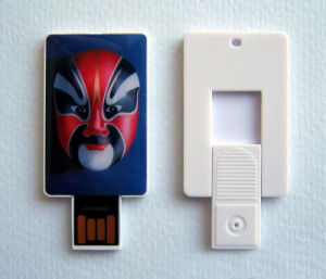 64GB Mini Sliding Pocket Business Card Pendrive pictures & photos