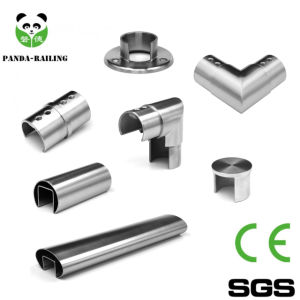 Stainless Steel Glass Handrail Slot Tube Fitting Elbow pictures & photos