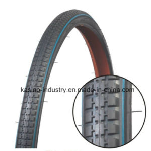 27X1 3/8 Road Bicycle Tyre with Blue Line pictures & photos