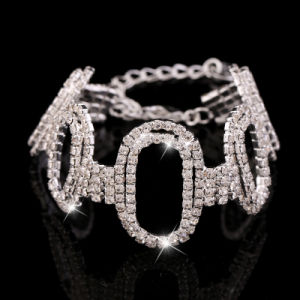 Fashion Jewelry Stainless Steel Crystal Bracelet