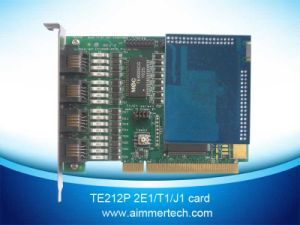 Te212p 2 E1/T1/J1 Asterisk Card with Hardware Echo Cancellation (TE212P)