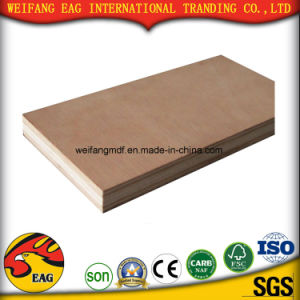Good Quality Red Color Commercial Plywood (1.0mm-30mm) pictures & photos
