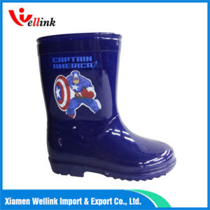 Children′s Cartoon Print Rubber Boots pictures & photos