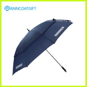 30 Inch Double Canopy Windproof Custom Promotional Fiberglass Golf Umbrella pictures & photos