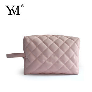 Hot Sales Portable Promotion Pink Nylon Cosmetic Bag pictures & photos