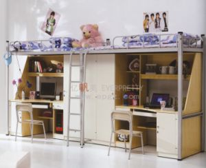 Factory School Dormitory Bunk Bed with Table and Cupboard (SF-16R) pictures & photos