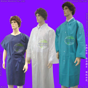 Disposable Polypropylene Lab Coat pictures & photos