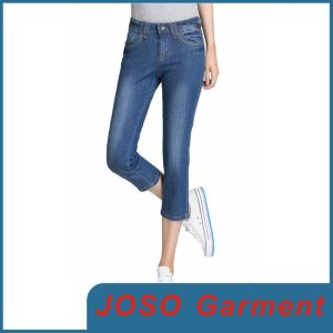 Lady Skinny Embellished Jeans (JC1057) pictures & photos