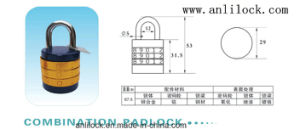 Combination Padlock, Zinc Alloy Padlock (AL505. AL506. AL507) pictures & photos
