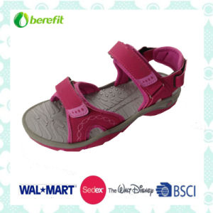 Fuchsia PU Upper and TPR Sole, Women′s Sandals pictures & photos