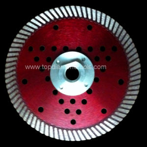 Turbo Fine Diamond Saw Blade with Flange and Cooling Holes for Cutting Hard Granite pictures & photos