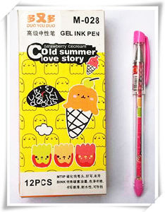 New Design Plastic Material 0.38mm Tip Size Gel Ink Pen